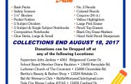 "Dale City Civic Association hosts second ""community backpack"" drive"