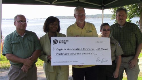 Dominion gives $35K check to Leesylvania for shoreline erosion project