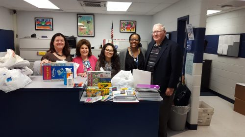 Dale City Civic Association & local business donate school supplies