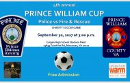 Prince William police & fire face off in charity soccer game