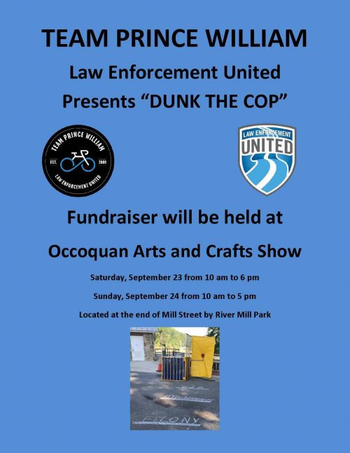 "Team Prince William LEU ""Dunk A Cop"" fundraiser in Occoquan, Sept. 23"