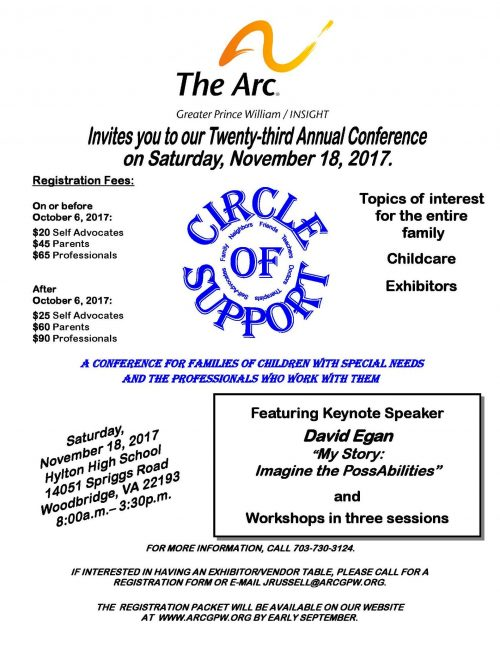 "The Arc hosting ""Circle of Support"" conference Nov. 18 in Woodbridge"