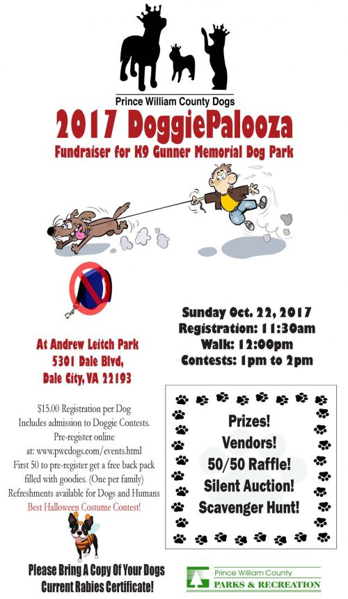 "Bring your dog to ""DoggiePalooza"" in Dale City this weekend"