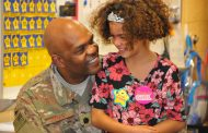 Air Force Lt. Col. returns from deployment to surprise daughter