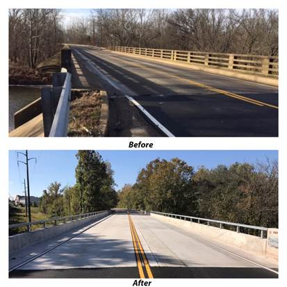Work on Old Centreville Road bridge now complete, says VDOT