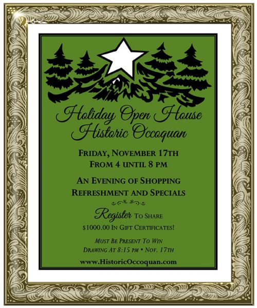 Seasonal cheer: Holiday Open House in Occoquan, Nov. 17