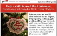 House of Mercy sets goal to provide 350-children with Christmas gifts