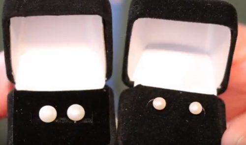 Get pearl studs as the perfect stocking stuffer at Quinn's Occoquan store closing sale