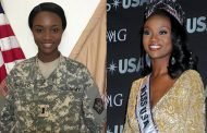 Former Miss USA speaks at 'Salute to the Armed Forces' event on Quantico Marine Base