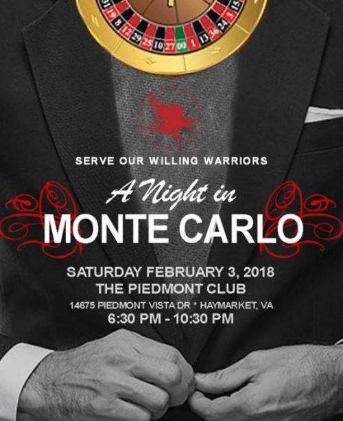 """Serve Our Willing Warriors hosting """"A Night in Monte Carlo,"""" Feb. 3"""