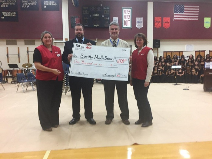 Pitkin's ACE Hardware donates $1K to Beville MS Band