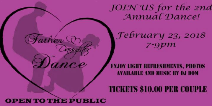 DCVFD to host 2nd annual Daddy Daughter Dance on Feb. 23