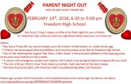 Boy Scout Troop 501 to host Valentine's Day Parent Night Out