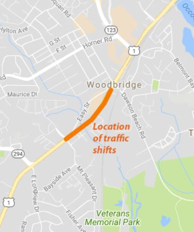 Route 1 traffic shift scheduled for Friday, Monday morning
