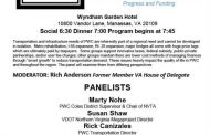 Panelists to discuss transportation at Prince William Committee of 100 event