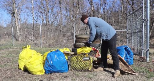 Community members volunteer at Neabsco Creek cleanup day