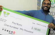Paul Burns of Woodbridge wins $150K from Virginia Lottery