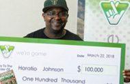 Horatio Johnson of Woodbridge wins $100K from Virginia Lottery