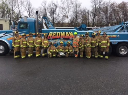 Towing company helps volunteer firefighters with vehicle extrication training