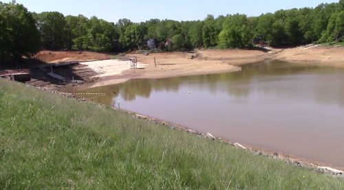 Lake Montclair water lowered, spillway project begins