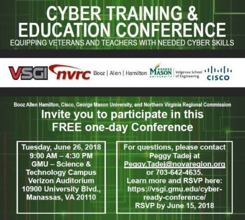 Cyber Training and Education Conference to be held in Manassas, June 26