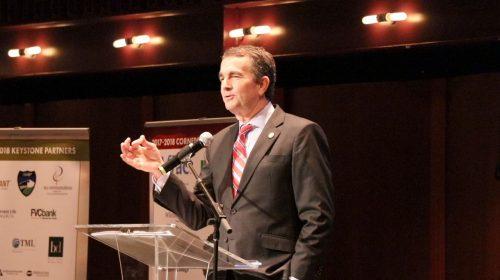 Governor Ralph Northam discusses Virginia's economy in Manassas