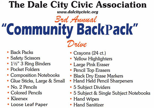 Dale City Civic Association collecting donations for annual backpack drive