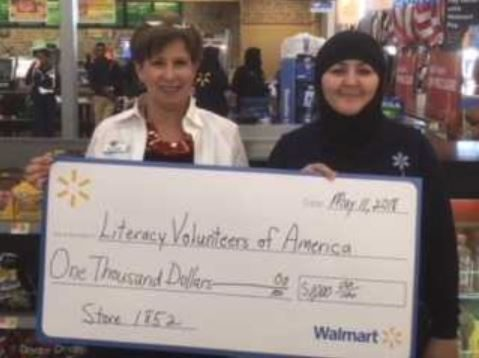 Local Wal-Mart stores award grants to literacy program