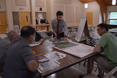 Town hall attendees help design new Occoquan District park