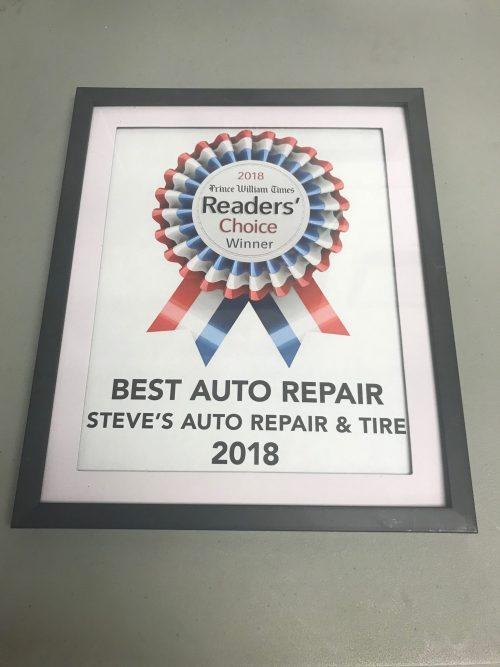 Steve's Auto Repair & Tire voted 'Best Auto Repair' in Prince William County