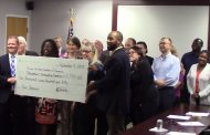 Check presented to Prince William Chamber of Commerce