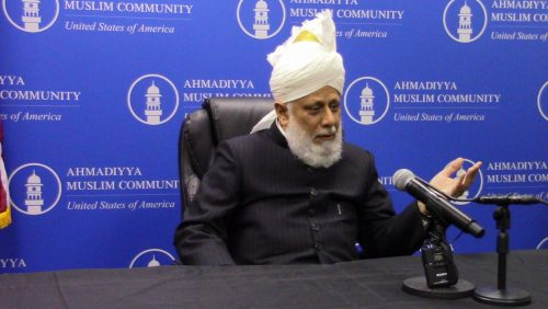 Khalifa of Islam promotes love at Manassas Mosque