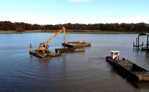 Dredging project begins at Neabsco Creek