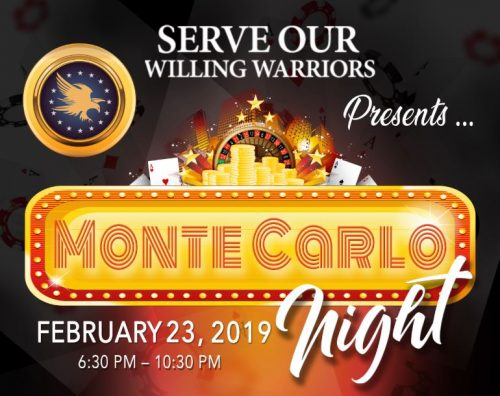 Serve Our Willing Warriors hosting casino night fundraiser, Feb. 23