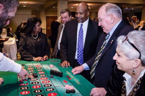 Casino night fundraiser occurring in Haymarket