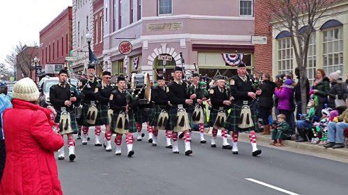 Saint Patrick's Day Parade occurring in Manassas