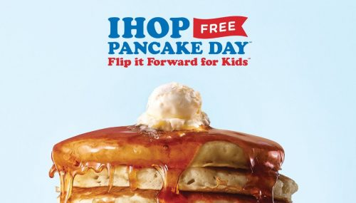Free pancakes available at IHOP today