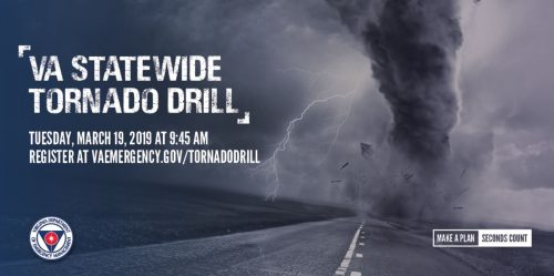 Tornado drill occurring across Virginia, March 19