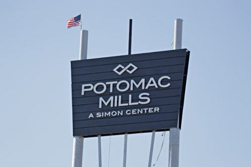 Officials installing new Potomac Mills sign