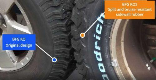 BFGoodrich KO2 tire features off-roading capabilities