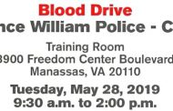 Blood drive being held in Manassas, May 28