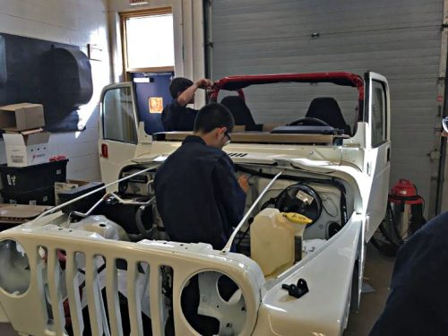 Hylton High School Automotive Program rebuilds Jeep