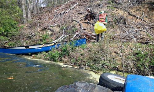 Several bags of trash removed from Occoquan River