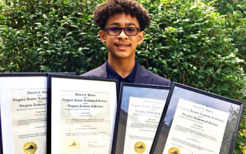 Graham Park Middle School student awarded at science symposium