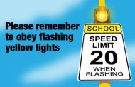 Drivers asked to obey flashing lights in school zones