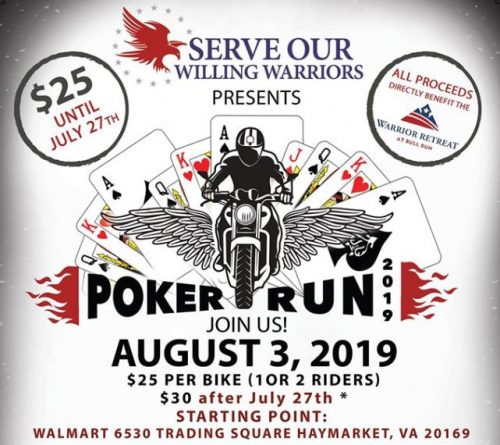 Haymarket non-profit hosting Motorcycle Poker Run