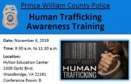 Police department hosting Human Trafficking Awareness Training