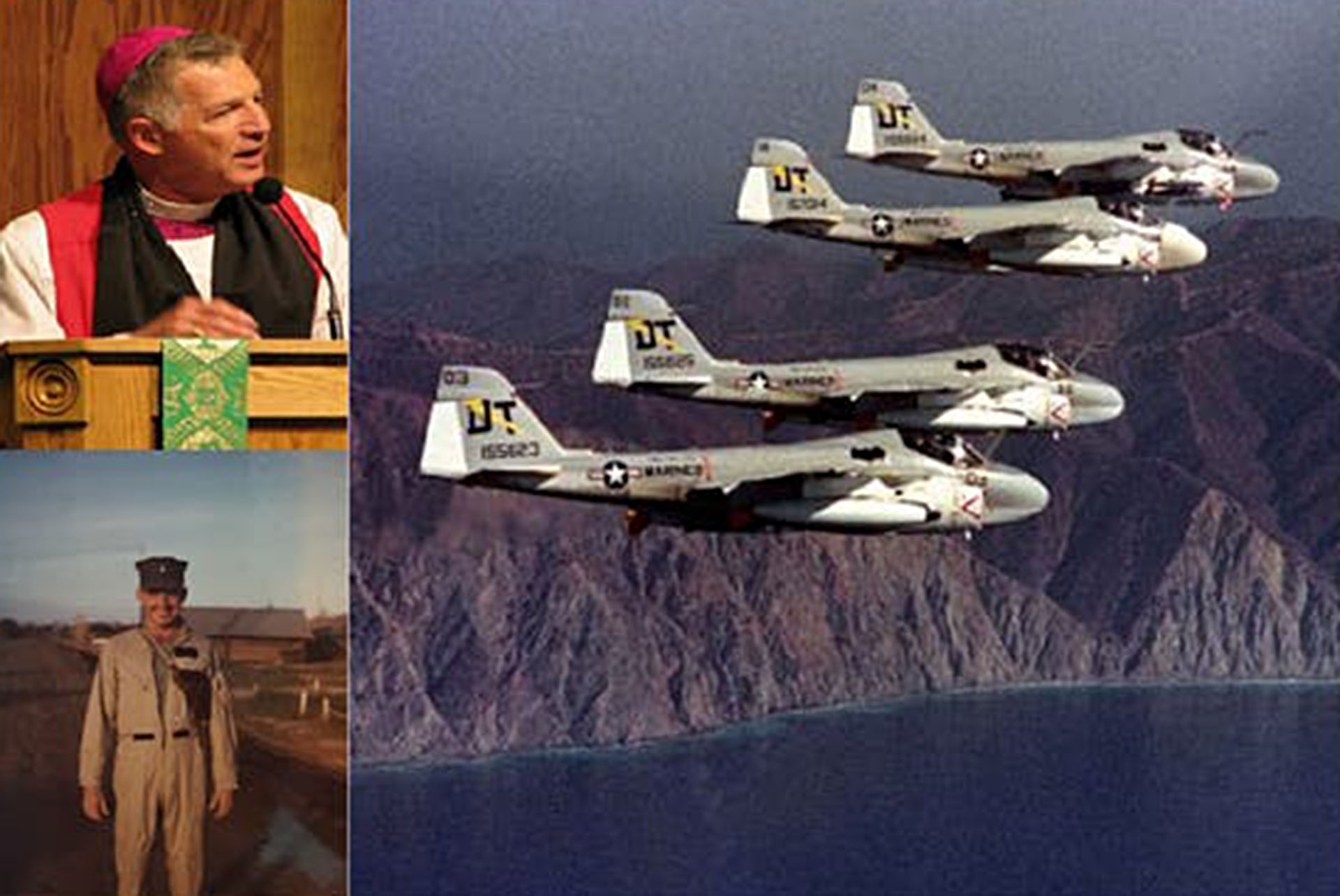 Retired Marines discussing Ho Chi Minh Trail bombing