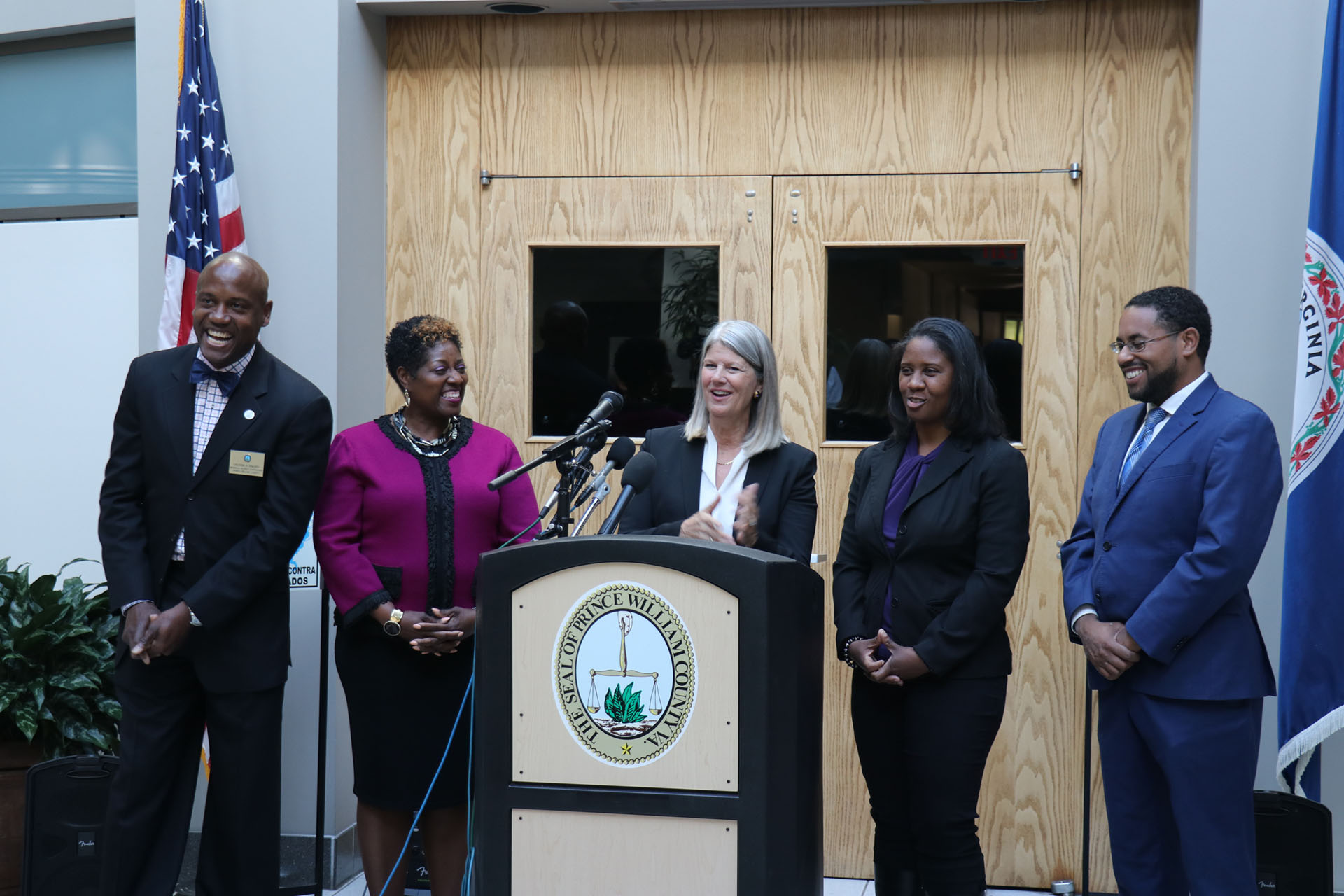 Elected officials speak in Woodbridge