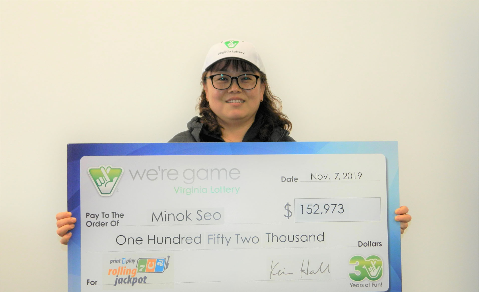 Bristow woman receives more than $150,000 from lottery